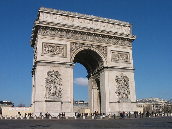 Arc de Triomphe is a monument in Paris