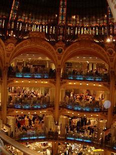 fashion in galleries Lafayette, paris
