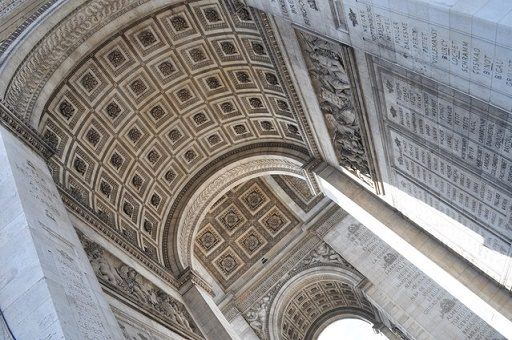 interior of Arc de Triomphe