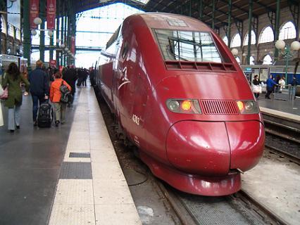 Red Thalys train